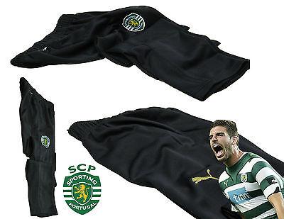Puma Mens Sporting Lisbon Football Tapered Training Pants Black Xs Authentic