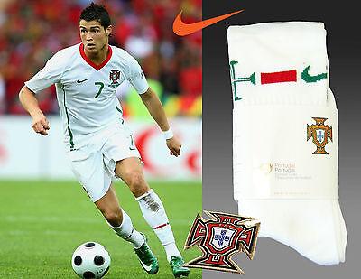 Nike Portugal Football Socks Home White Adults L Uk 7.5-11