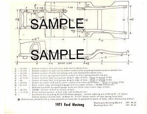 1964    1965    1966    Ford    Mustang 64 65 66 Frame    Diagram    with Dimension Chart 66BK6465   eBay
