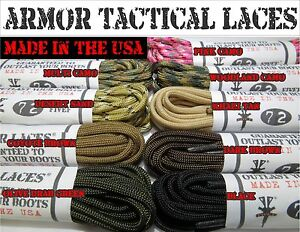 Armor-Laces-Combat-Tactical-Boot-Laces-Khaki-Tan-Camo-Brown-NEW