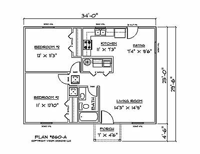House Plans For 860 Sq  Ft  Investment House Plan