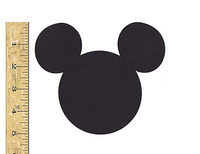 Scrapbooking/ Party Decorations - 5 Mickey Mouse Head Silhouettes 25 Pcs