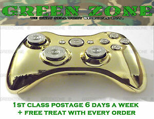 Chrome Gold Shell Silver Bullet Buttons Xbox 360 Wireless ...
