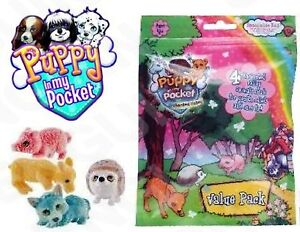 Puppy in my Pocket Enchanted Valley Gift Pack of 4 - Deer, Fox, Hedgehog & Pig
