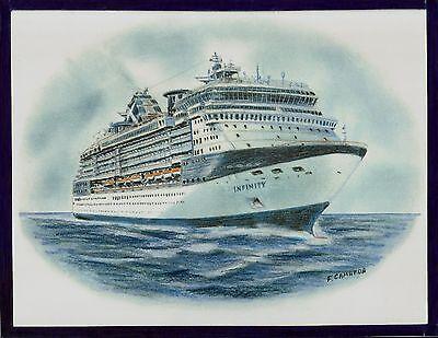 Original Art Work    Gts Infinity     Celebrity Cruises   Cruise Ship