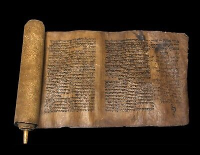Antique ESTHER SCROLL MANUSCRIPT ON GEVIL PARCHMENT MOROCCO 1600-1700'S