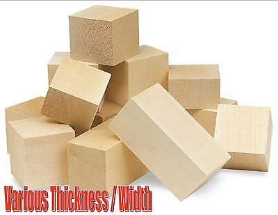 225mm WOODEN BALSA BLOCK BLOCKS MODEL MAKING ARCHITECT VARIOUS THICKNESS / WIDTH ()