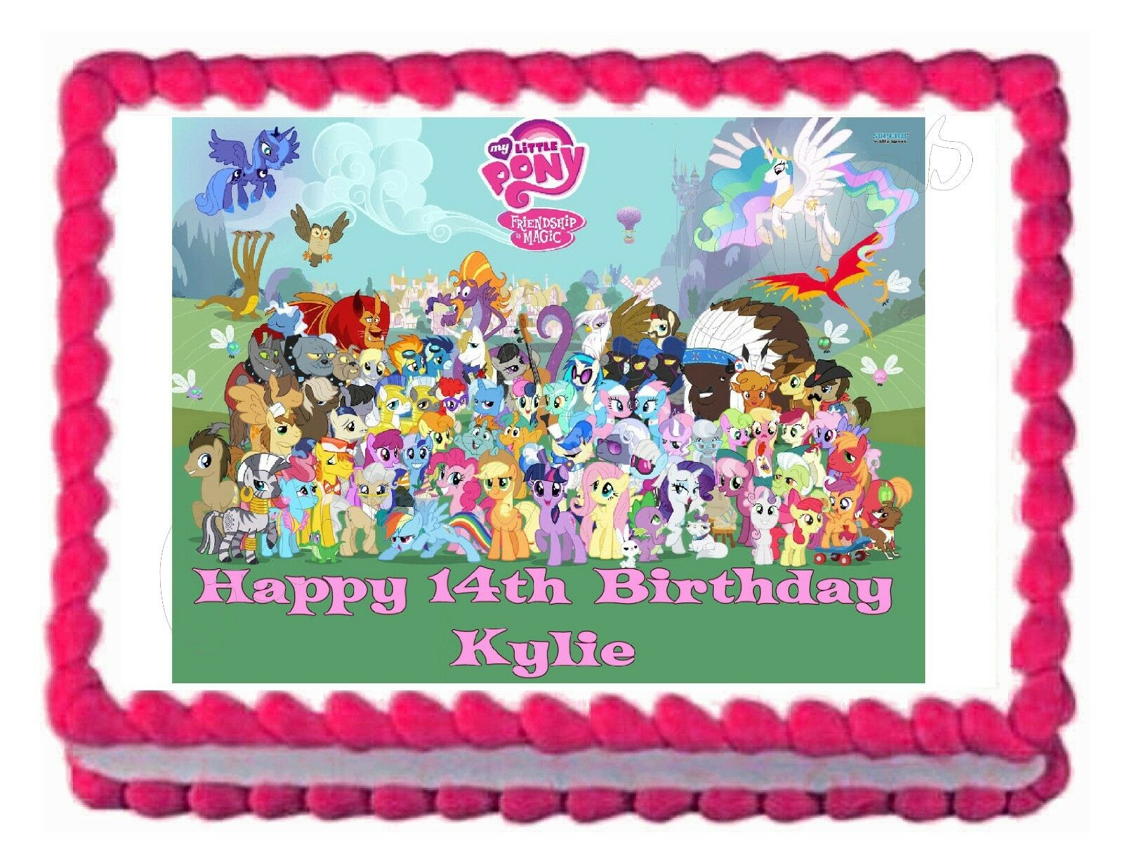 MY LITTLE PONY edible party cake topper decoration cake ...