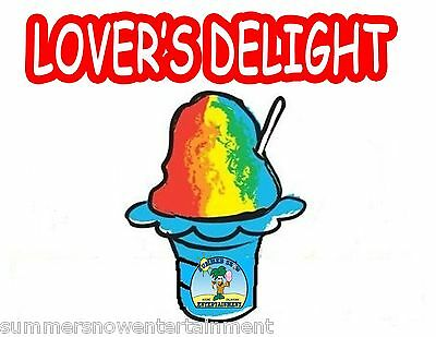 Lovers Delight Syrup Mix Snow Coneshaved Ice Flavor Gallon Concentrate 1flavor