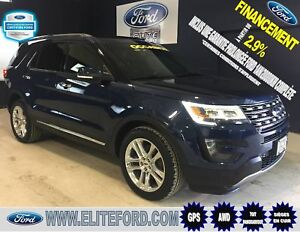 FORD EXPLORER LIMITED 2016, CUIR, TOIT,GPS, MAGS 20 POUCES