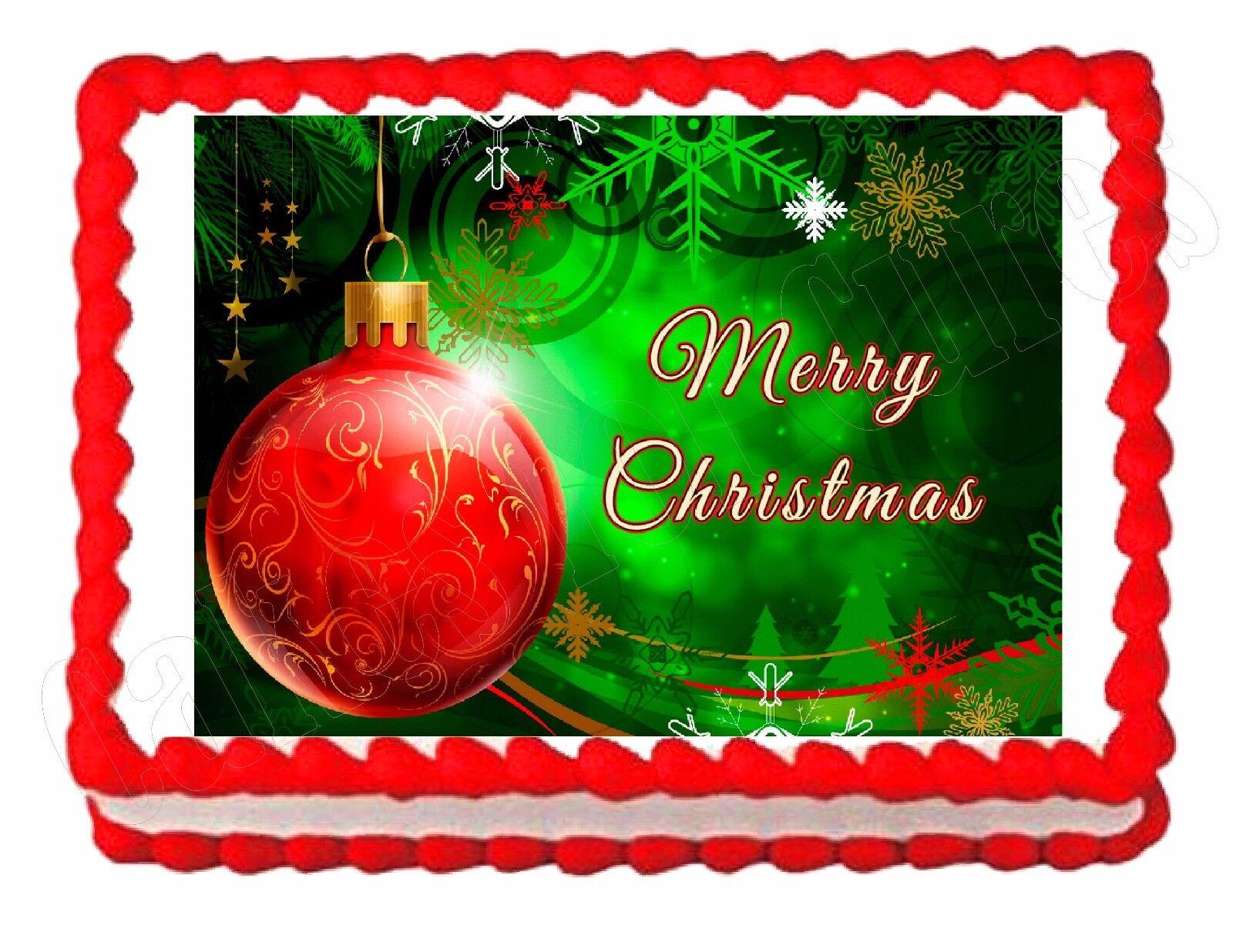 Christmas Holiday edible image cake topper decoration ...