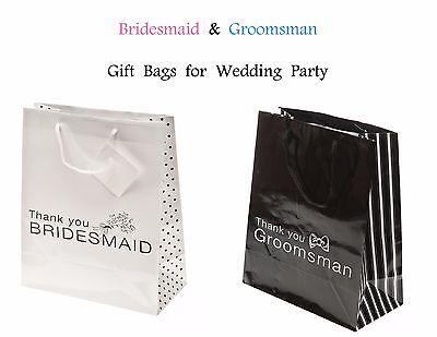 Wedding Gift Bags Bridesmaid Groomsman Maid of Honor Best Man Thank You - 12