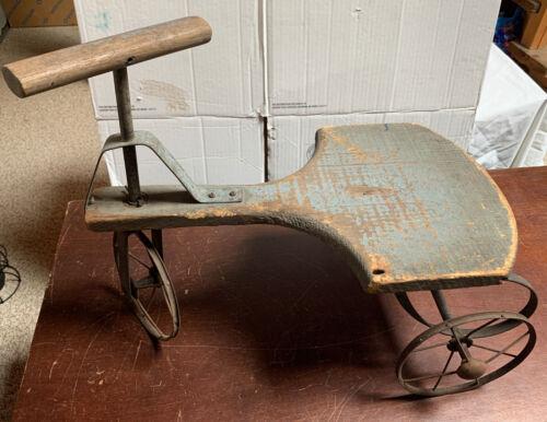 Antique Tricycle Wood & Metal wheels Vintage Kids trike 1890's? (Used - 149 USD)