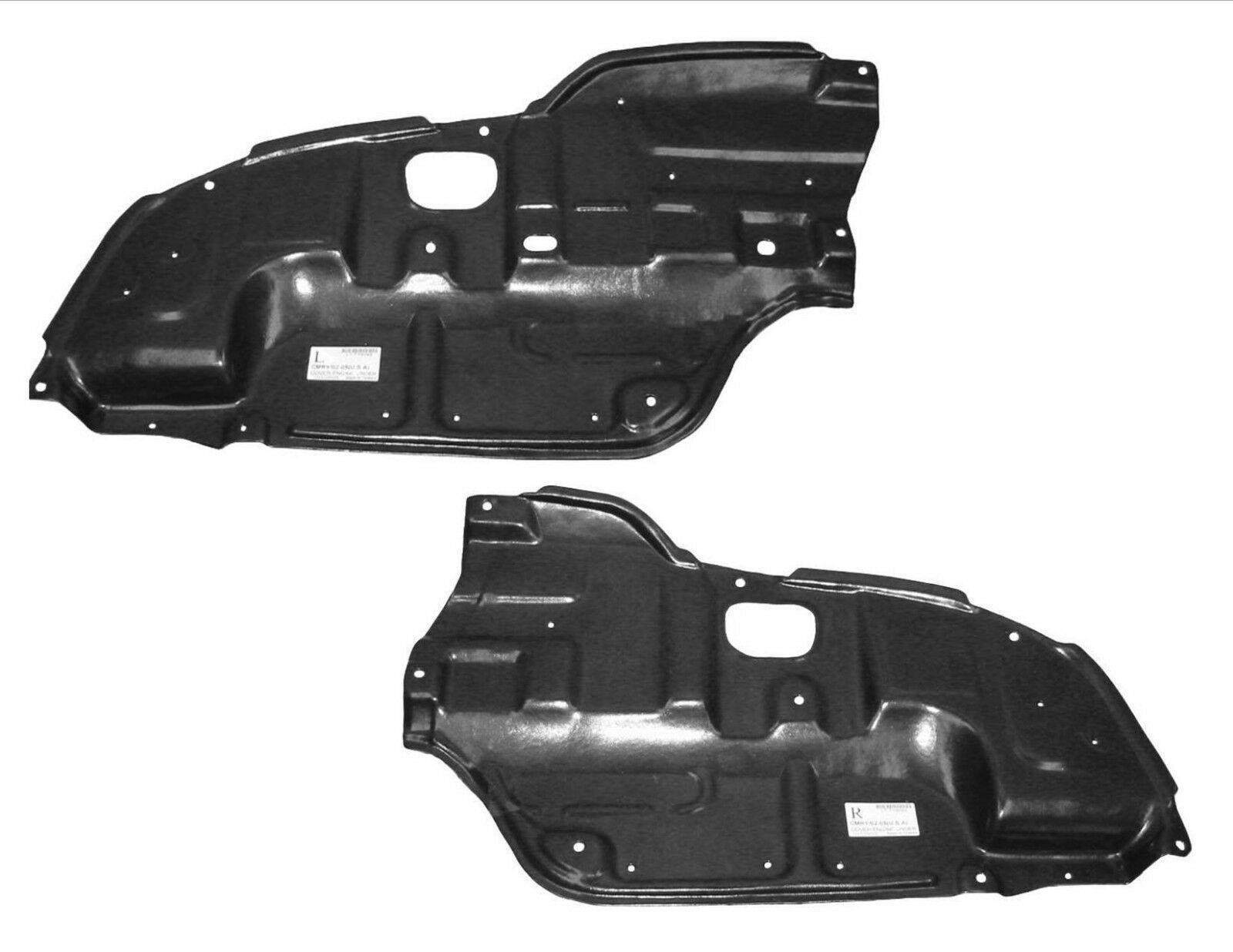 Make Auto Parts Manufacturing Set of 2 Driver Left /& Passenger Right Side Undercar Engine Splash Shields for Toyota Camry 2002 2003 2004 2005 2006 TO1228106 TO1228107