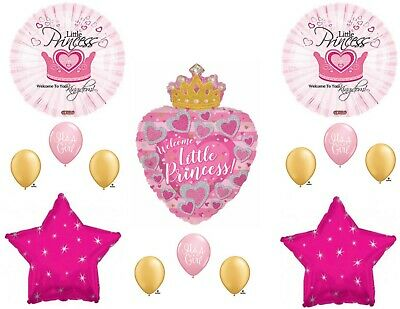 Little Princess Baby Shower Decorations (Welcome Little Princess Crown It's a Girl Baby Shower Balloons)