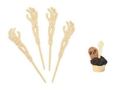 Skeleton Arm Food Picks Halloween Party Goodies Cupcake Decor  72 Picks  6