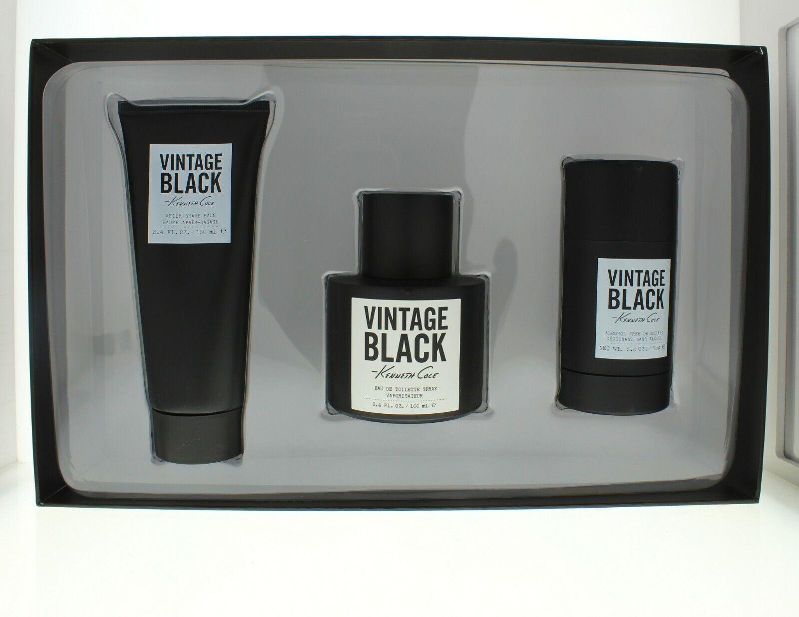 Kenneth Cole Vintage Black Gift Set  Men's