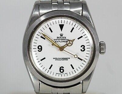 Vintage Rolex Explorer Stainless Steel Automatic Wristwatch Ref. 1016