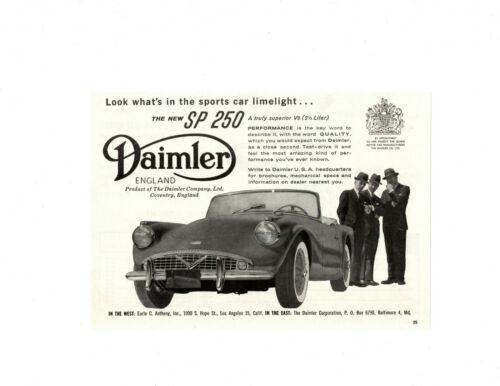 1960 DAIMLER SP 250 ~ ORIGINAL SMALLER PRINT AD