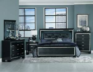 SUMMER SALE!!!!!!Allura Queen/King Bed or Suite in Black