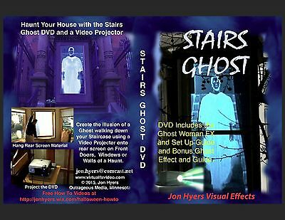 Window Projection Halloween (STAIRS GHOST - HALLOWEEN WINDOW PROJECTION DVD 2012 JON)