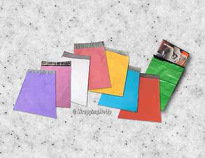 40 -6x9 Flat Poly Mailers 8 Color Combo Package Usps Approved Mailer Bags