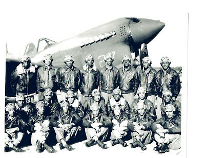 TUSKEGEE WWII PILOTS HEROS AIRMEN 8X10 PHOTO USA 332ND FIGHTER 477TH BOMBER