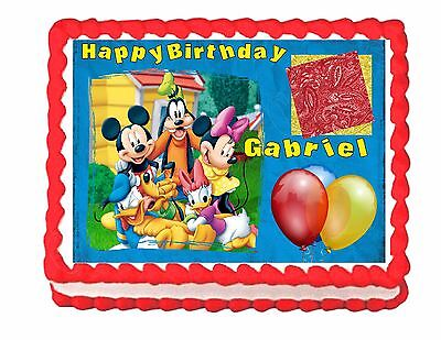 (Mickey Mouse Clubhouse edible cake image frosting sheet - personalized free!)