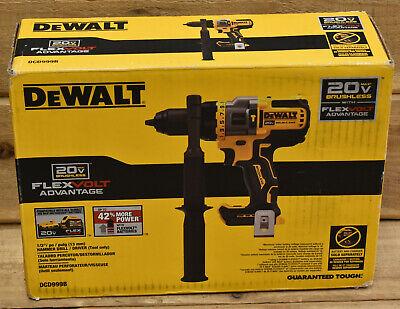 Dewalt Dcd999b 20v Max Cordless Hammer Drilldriver Flex Volt Tool Only New