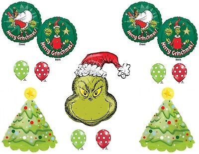 HOW THE GRINCH STOLE CHRISTMAS Party Balloons Birthday Decorations Dr. Seuss (Dr Seuss Christmas Decorations)