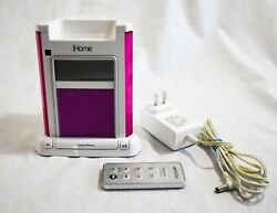 iHome iH4p Expanded EXB Bass Sound Alarms Clock Docking Station