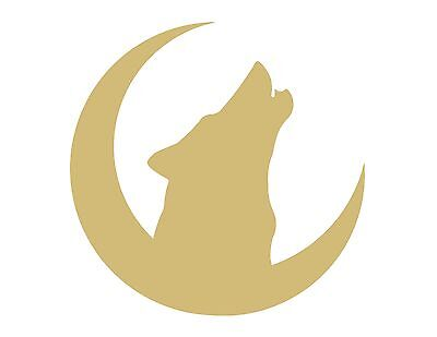 Wolf Moon Unfinished MDF Wood Cutout Variety Sizes USA Made Halloween Decor - Halloween Wood Cutouts