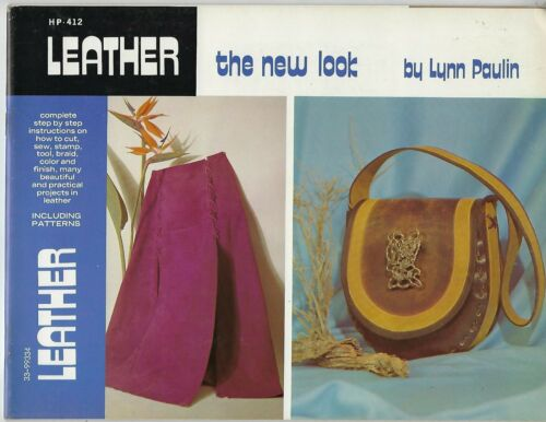 Leather The New Look Step by Step Instructions Vintage Craft Book Patterns HP412