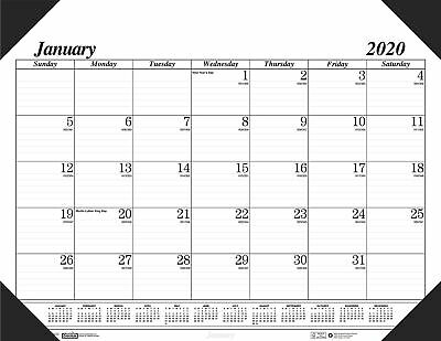 House of Doolittle 2020 Monthly Desk Pad Calendar Economy 18.5