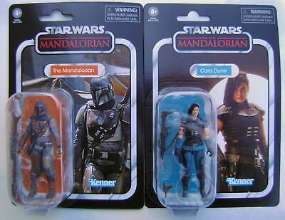 "The Mandalorian & Cara Dune~3-3/4"" Action Figures~MOC~Star Wars~Kenner~In Hand"