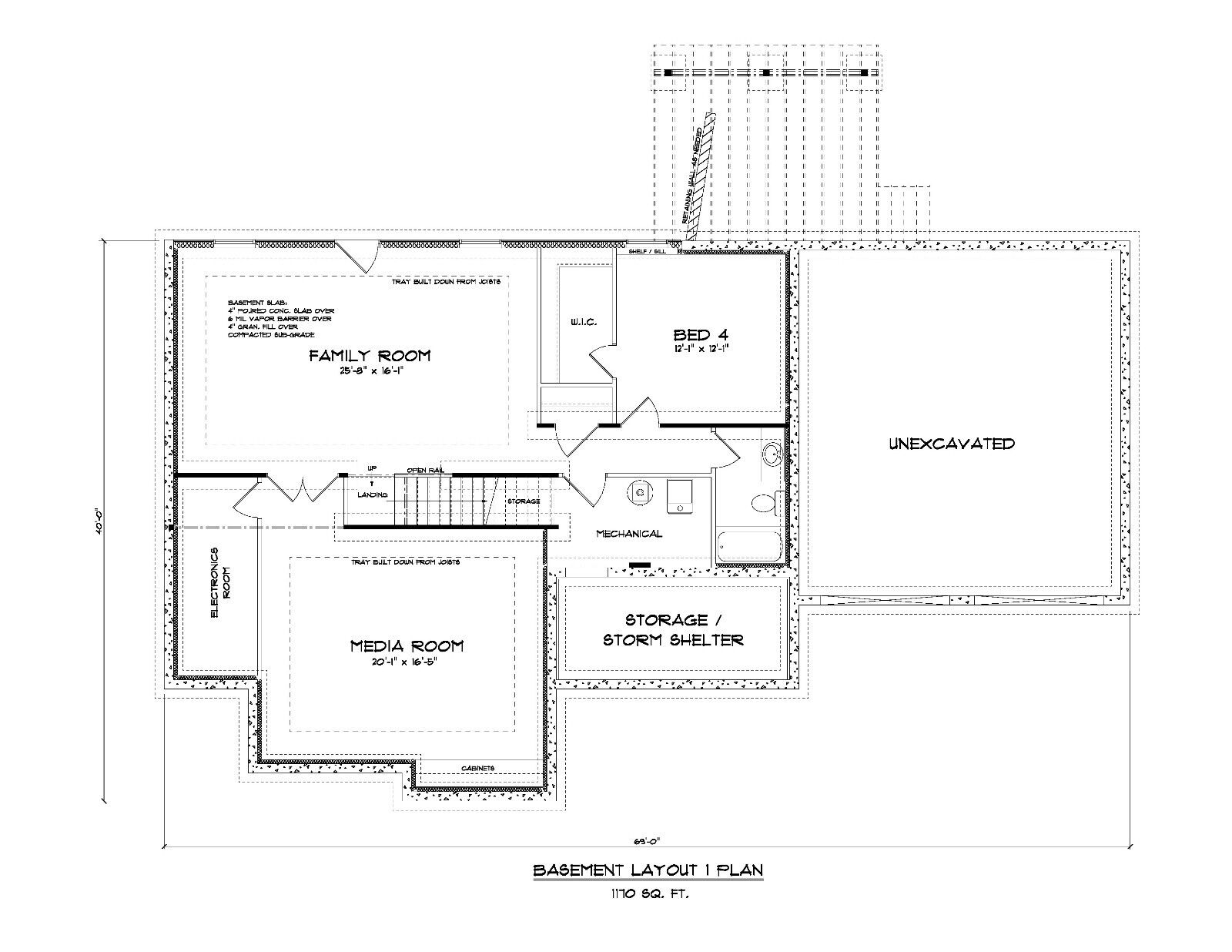 1460 sq ft ranch house plans 3 bed 2 bath up 1 bed 1 for T ranch house plans
