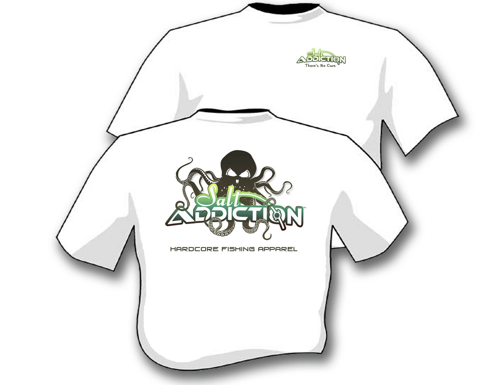 Salt addiction fishing t shirt saltwater shirt ocean fish for Saltwater fishing t shirts