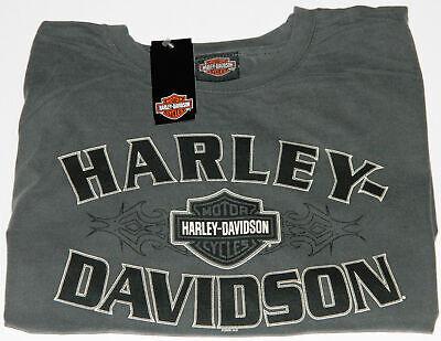 Mens Harley-Davidson Bar & Shield Logo T-Shirt Grey Shirt Medium Large & 2XL NEW