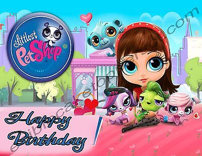 Littlest Pet Shop Personalized Edible Print Cake Topper Frosting Sheets 5 Sizes  - Littlest Pet Shop Sheets