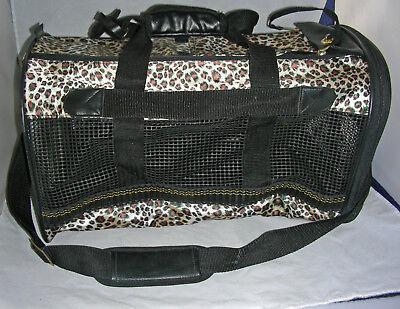 Cat/ Kitten/ Dog/Small Animal Leopard Pattern Pet Carrier Mesh openings