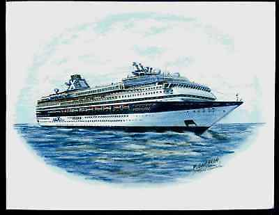 Original Art Work    Ms Mercury    Celebrity Cruises   Cruise Ship
