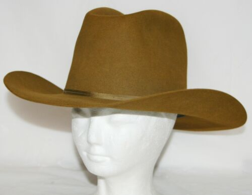 VTG Resistol Self Conforming Western XXX Beaver Cowboy Hat Brown Size 7-1/8