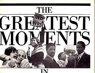 1986 Philadelphia Daily News    The Greatest Moments In Phhiladelphia Sports