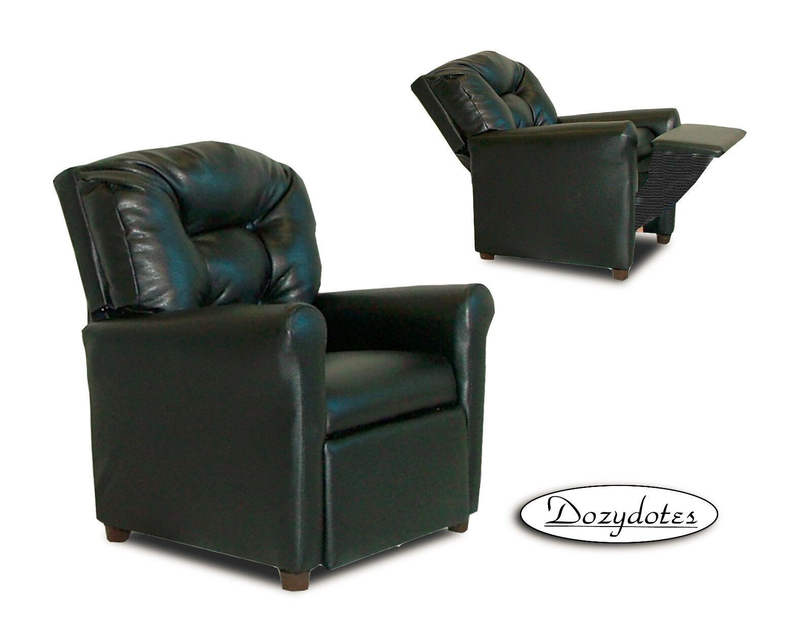 Black 4 Button Child Recliner Chair - Reclining Chair for Ki