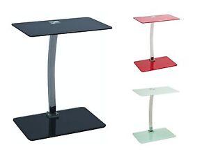 vetrostyle design beistelltisch aus glas lifto schwarz weiss rot ebay. Black Bedroom Furniture Sets. Home Design Ideas