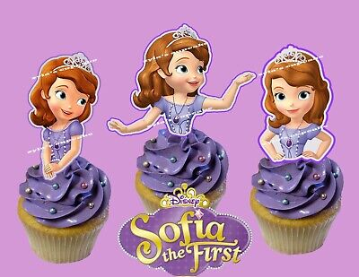 Sofia The First Cupcake Toppers (Princess Sofia the First  Cupcake Topper)