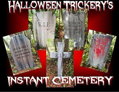 Handmade Halloween Props (Authentic Handmade Halloween Instant Cemetery Prop Decor Yard Art Realistic)