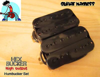 G.M. HexBucker Hight Output Humbucker Set (50mm,52mm) Black