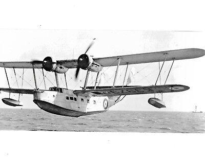 Supermarine Stranraer K3973 built 1937 flyingboat BW photo 30 x 14 cm