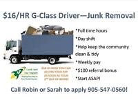 BULK ITEM REMOVAL COMPANY HIRING DRIVERS/ MOVERS! APPLY NOW!